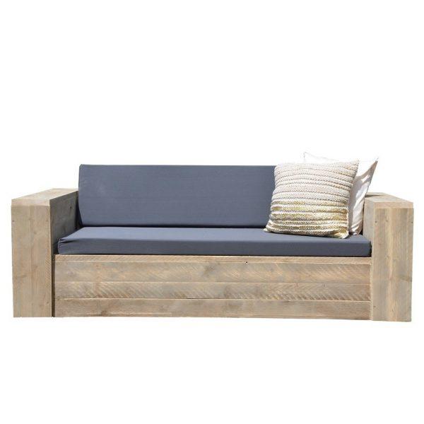 "Wood4you - Loungebank Steigerhout """"Washington 200cm Met Kussens''"