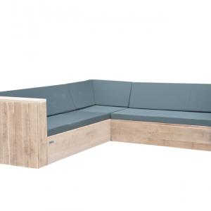 Wood4you - Loungeset 1 steigerhout 220x220 cm - incl kussens