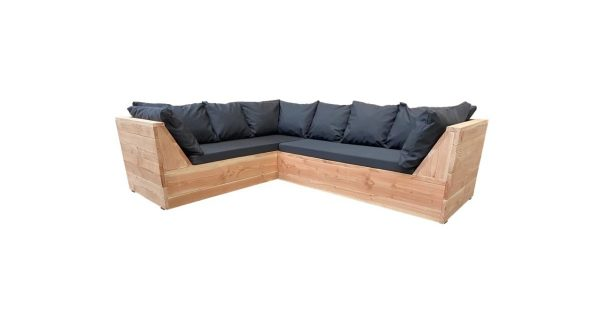 Wood4you - Loungeset 6 Douglashout 210x200 cm - incl kussens Lvorm