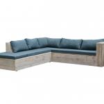 Wood4you – Loungeset 7 steigerhout 220×200 cm – incl kussens (L-vorm)