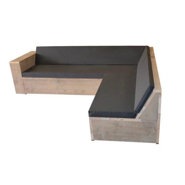 Wood4you - Loungeset San Francisco 200x210 Cm - Gl-vorm- Incl Kussens