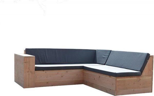 Wood4you - Loungeset San Francisco Douglas 250x200 cm - GL-vorm incl kussens