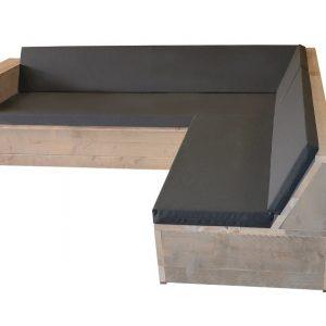 Wood4you - Loungeset Steigerhout San Francisco 250x200 cm - incl kussens