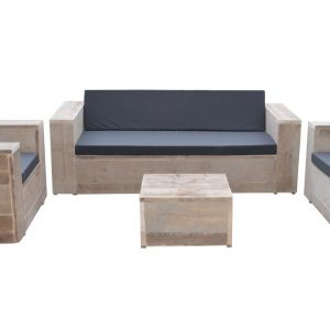 Wood4you- Loungeset steigerhout Santa Monica - incl kussens