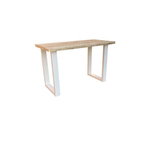 Wood4you - Statafel Toronto Tafel Steigerhout - Wit 160lx110hx90d Cm