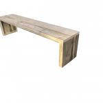 Wood4you – Tuinbank Amsterdam steigerhout 130Lx43Hx38D cm