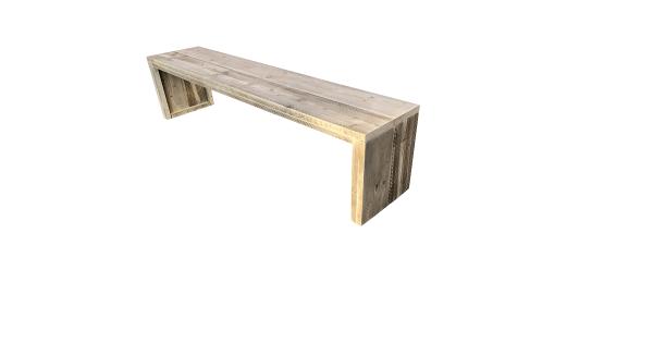 Wood4you - Tuinbank Amsterdam steigerhout 140Lx43Hx38D cm