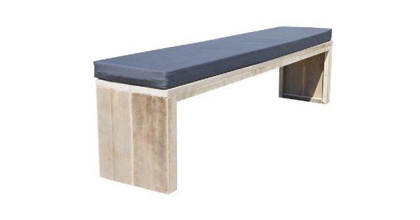 Wood4you - Tuinbank Amsterdam steigerhout 140Lx43Hx38D cm - incl kussen