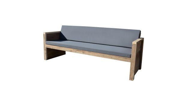 Wood4you - Tuinbank Vlieland - 'Doe het zelf' Bouwpakket steigerhout 180Lx57Hx72D cm - Incl kussen