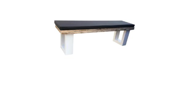 Wood4you - Tuinbank steigerhout 130Lx40Hx38D cm - incl kussen