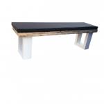 Wood4you – Tuinbank steigerhout 140Lx40Hx38D cm – incl kussen