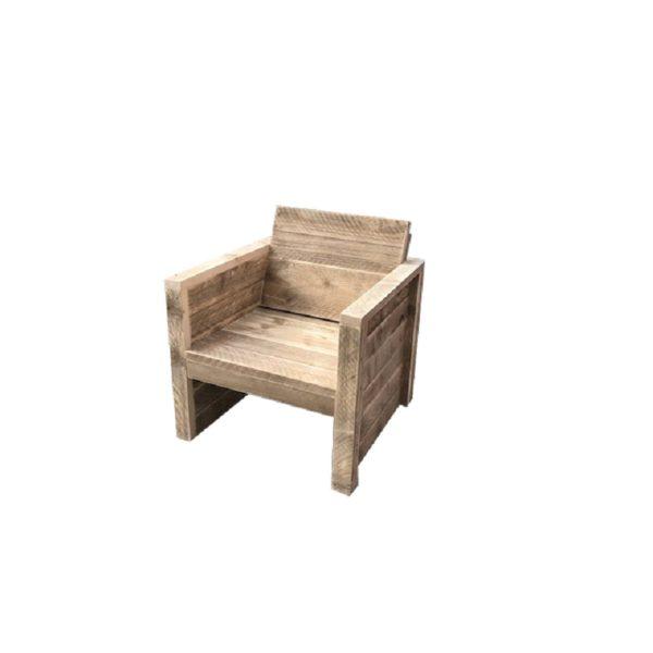 Wood4you - Tuinstoel Vlieland Steigerhout 65lx57hx72d Cm