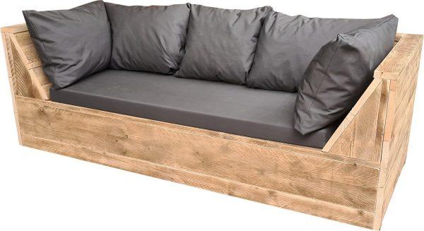 Wood4you - loungebank Phoenix Steigerhout 220Lx70Hx80D cm plof