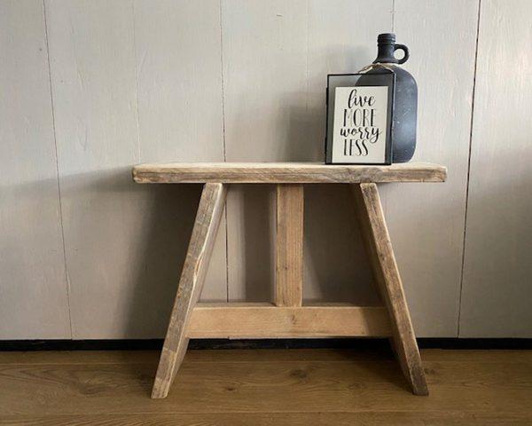 steigerhouten krukje - bankje - gebruikt hout