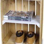 Steigerhoutpassie Nachtkastje – Mobiel – Nieuw – Oude Look -Bruin – Legplank Wit – Steigerhout – 40x30x60cm
