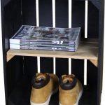 Steigerhoutpassie Nachtkastje – Mobiel – Nieuw – Zwart – Legplank Bruin – Steigerhout – 40x30x60cm