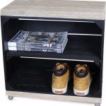 Steigerhoutpassie Nachtkastje – Mobiel – Nieuw – Zwart – Legplank Zwart Lang – Steigerhout – 50x30x50cm