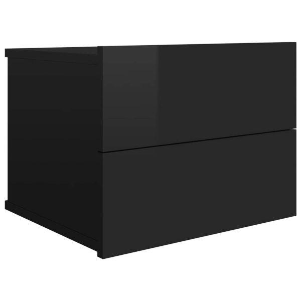 Vidaxl Nachtkastje 40x30x30 Cm Spaanplaat Hoogglans Zwart