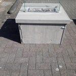 Vuurtafel Block 80x80cm van Grey Wash steigerhout