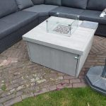Vuurtafel Block 90x90cm van Grey Wash steigerhout