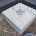 Vuurtafel Block Terrasverwarmer 100x100x50cm van Grey Wash steigerhout