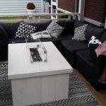 Vuurtafel Block Terrasverwarmer 80x100x50cm van White Wash steigerhout