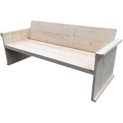 Loungebank bouwpakket steigerhout 198cm