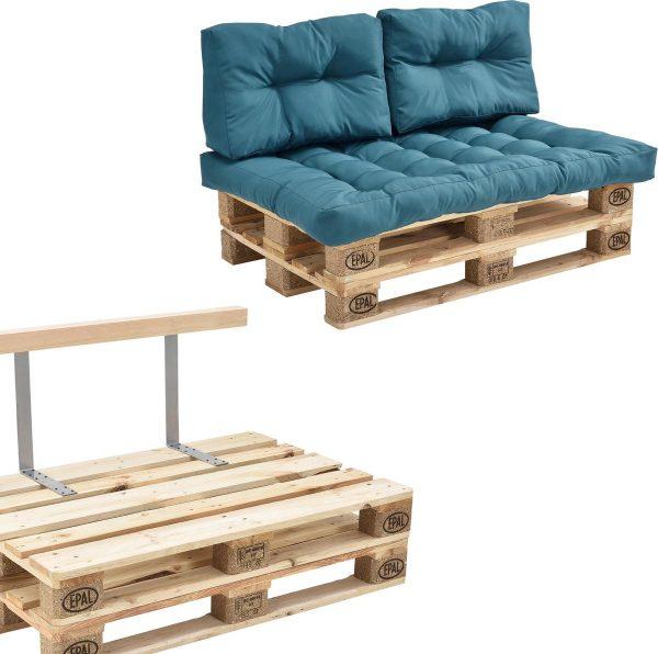 Palletbank - tweezitsbank - pallet sofa - turquoise