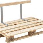 Rugleuning voor palletbank 110x5x5 cm metaal en hout