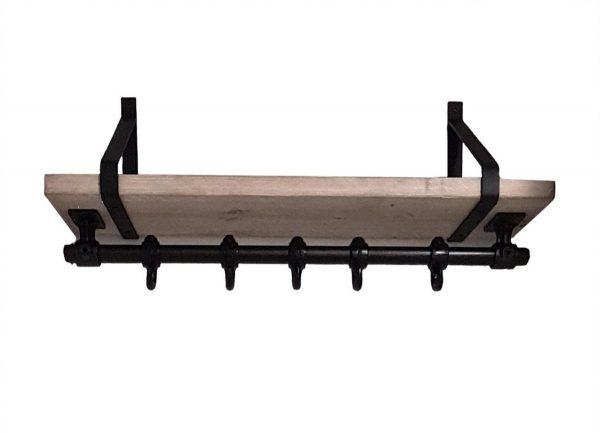 Steigerbuis kapstok 80cm | steigerhout | steigerbuis | industriële plankdragers