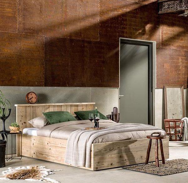 Steigerhouten bed Modern 140 cm x 220 cm