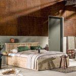 Steigerhouten bed Modern 200 cm x 210 cm