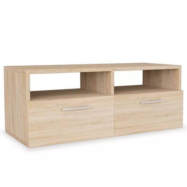 Vidaxl Tv-meubel 95x35x36 Cm Spaanplaat Eikenkleurig