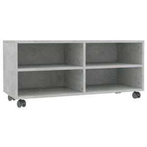 Vidaxl Tv-meubel Met Wieltjes 90x35x35 Cm Spaanplaat Betongrijs