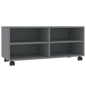 Vidaxl Tv-meubel Met Wieltjes 90x35x35 Cm Spaanplaat Grijs