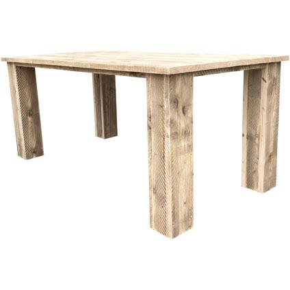 Wood4You tafel Texas steigerhout bruin 220x76cm