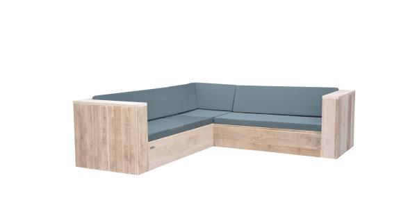 Wood4you - Loungeset 2 steigerhout 240x240 cm - incl kussens