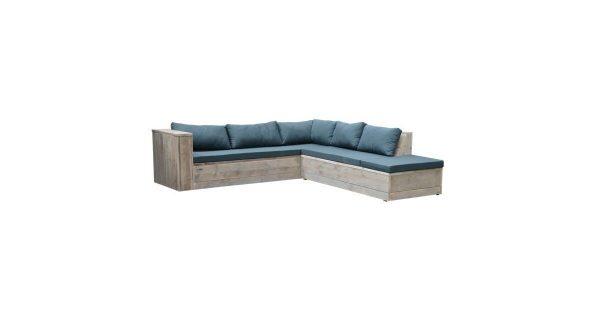 Wood4you - Loungeset 7 steigerhout 200x200 cm - incl kussens (GL-vorm)