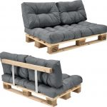 Palletbank – tweezitsbank – pallet sofa – lichtgrijs