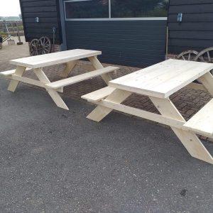 Picknick tafel van nieuw steigerhout 180x200x78cm