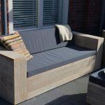 Sanderswoodworks Washington Loungebank Steigerhout – 200Lx80Dx70H cm