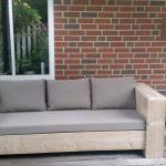 Steigerhout – loungebank 200×80 – oud steigerhout – zitdiepte 60 cm – geen bouwpakket