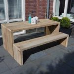"Tafel steigerhout ""Amsterdam 150X90"" houten tafel – eettafel – keukentafel"