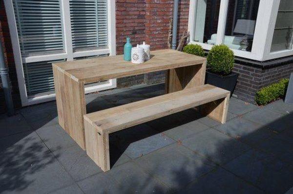 "Tafel steigerhout ""Amsterdam 150X90"" houten tafel - eettafel - keukentafel"