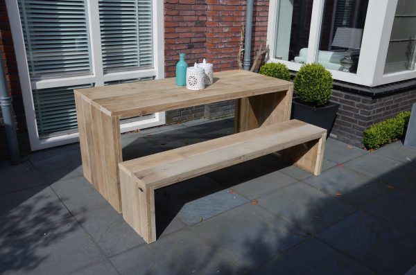 "Tafel steigerhout ""Amsterdam 200X90"" - eettafel - houten tafel - eetkamertafel"