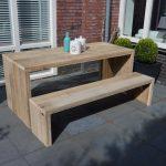 "Tafel steigerhout ""Amsterdam 220X72"" – tuintafel – tafel hout – eetkamertafel"