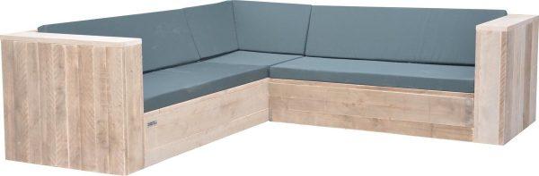 Wood4you - Loungeset 2 steigerhout 220x220 cm - incl kussens