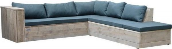 Wood4you - Loungeset 7 steigerhout 220x200 cm - incl kussens (GL-vorm)