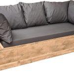 Wood4you – loungebank Phoenix Steigerhout 210Lx70Hx80D cm plof