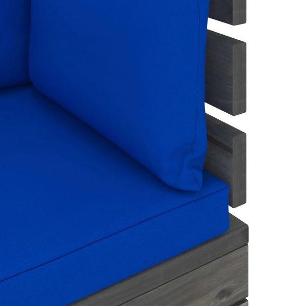 vidaXL 6-delige Loungeset met kussens pallet grenenhout VDXL_3061933